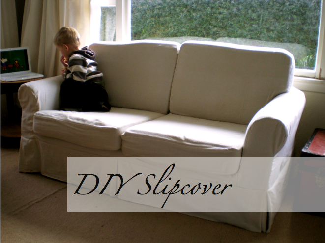 Something about the idea of sewing a couch slipcover is hugely