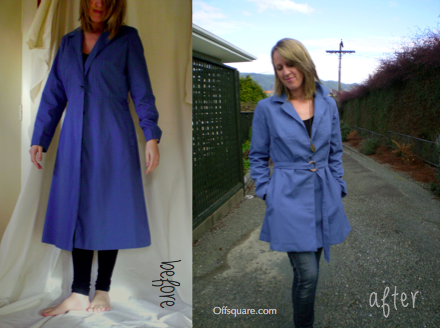 RainCoat Refashion Before & After
