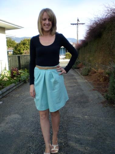Mint Skirt Refashion