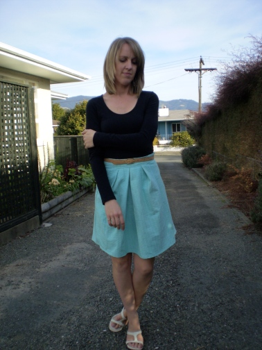 Mint Skirt Refashion