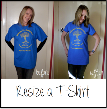 How to resize a tshirt - don't know why I never thought of this before. And it looks pretty simple too. Such a useful trick for those generic man size tshirts.