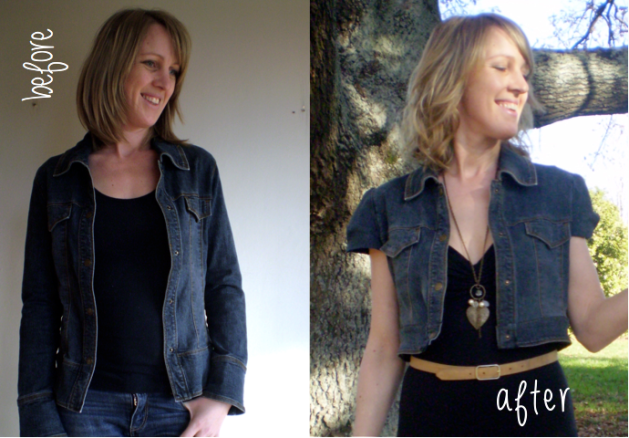 Denim Jacket refashion