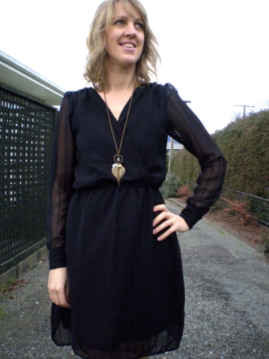 Refashioned Sheer Black Dress by Offsquare.com