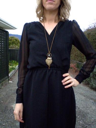 Refashioned Sheer Black Dress by Offsquare.com