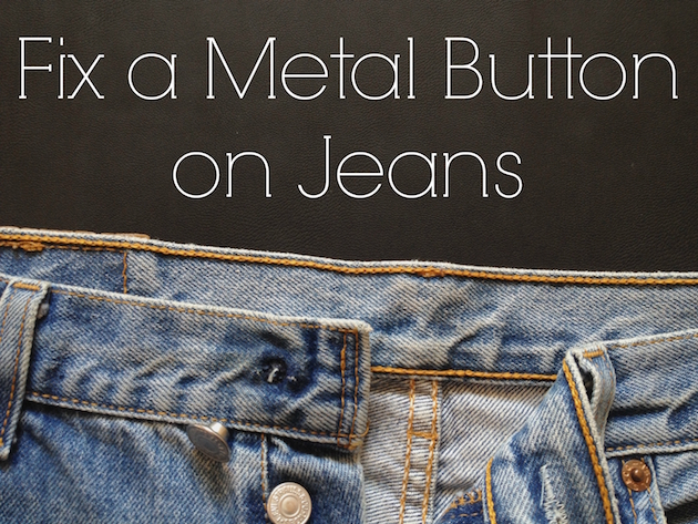 How to replace a metal button on jeans