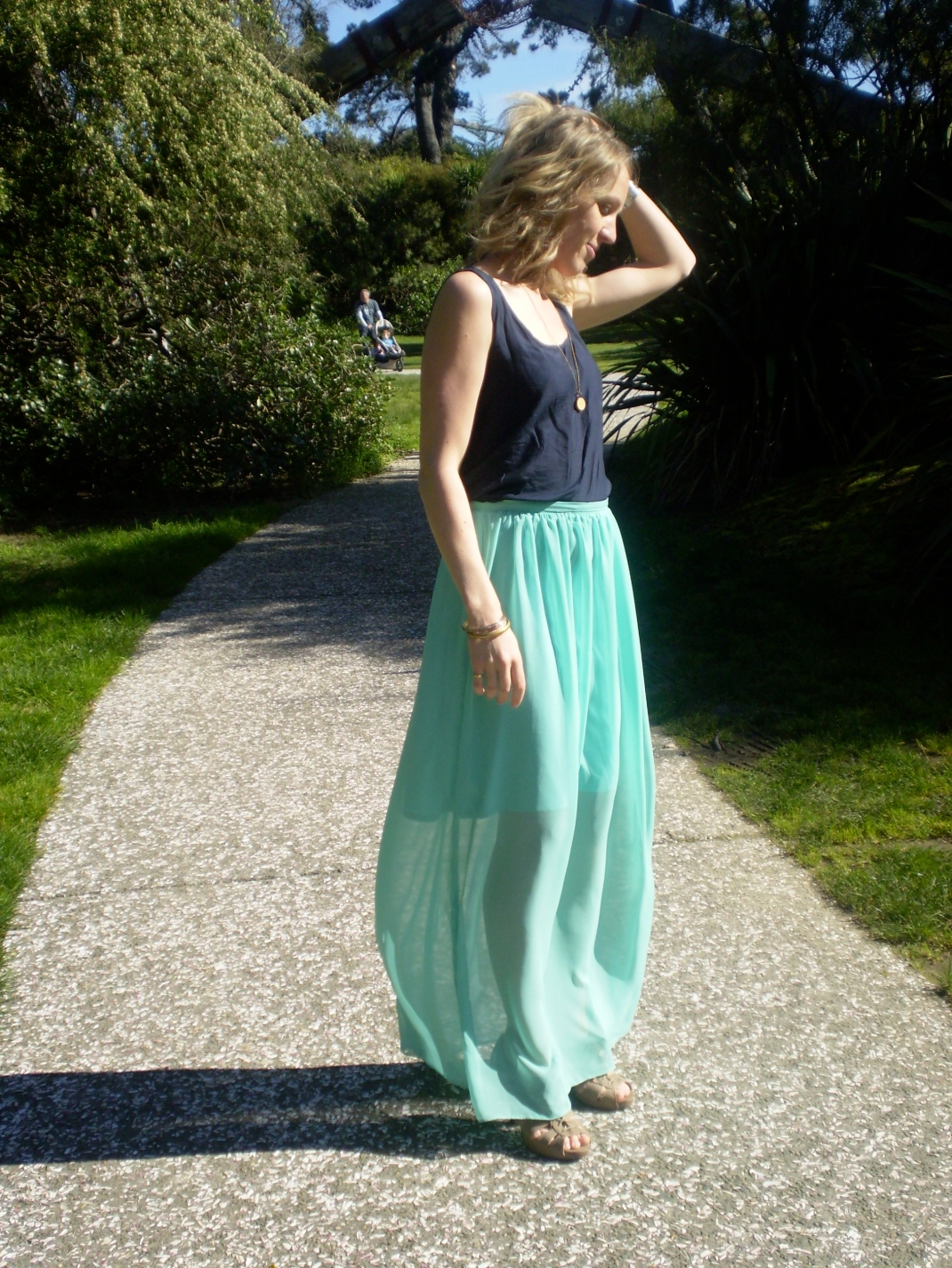 mint maxi skirt | offsquare.com