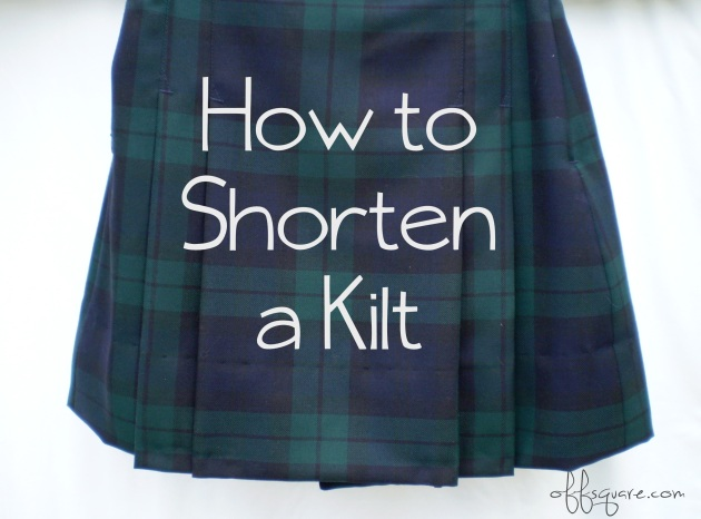 How to shorten a kilt tutorial | Offsquare.com