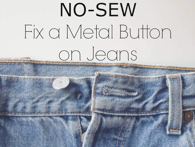 No sew fix for the metal button on jeans